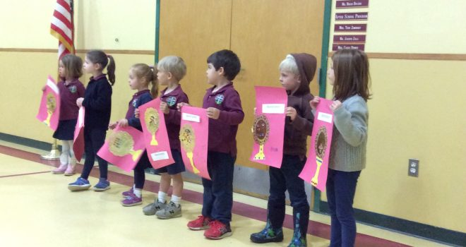 Pre-Kindergarten Learns About Eucharistic Adoration