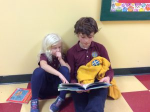 Kindergarten Buddies: Building relationships and literacy at the same time